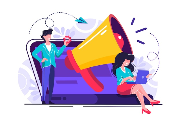 Ilustración de promoción empresarial