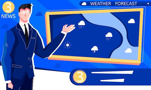 Ilustración de pronóstico del tiempo