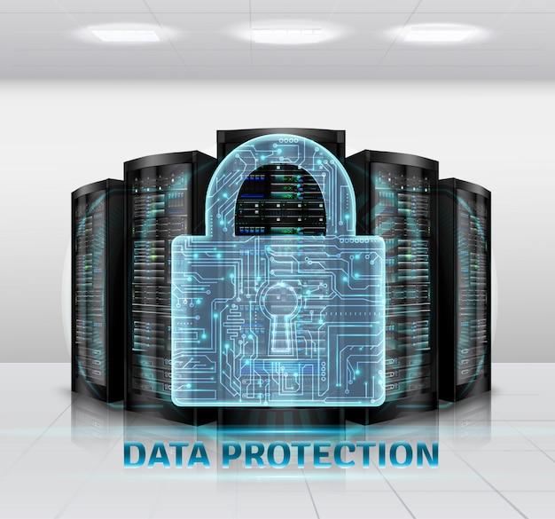 Ilustración de protección de datos