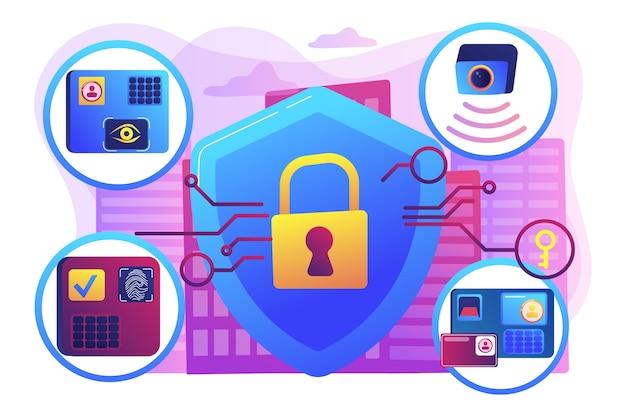Ilustración de protección del hogar