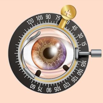 Ilustración de prueba ocular