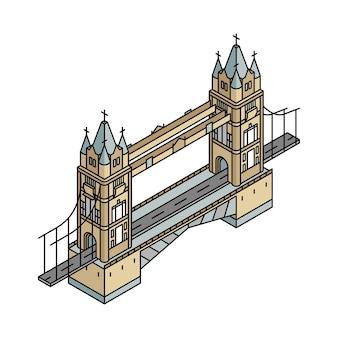 Ilustración del puente de londres en el reino unido