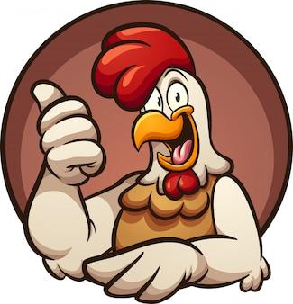 Ilustración de pulgares arriba de pollo