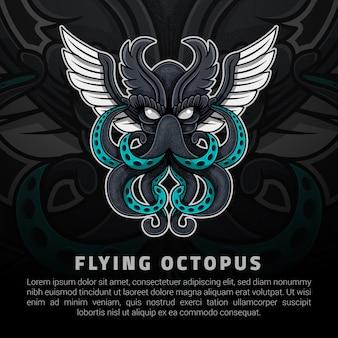 Ilustración de pulpo volador