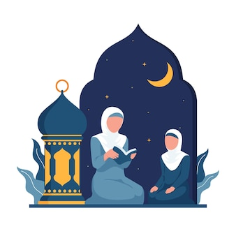 Ilustración de ramadán plana