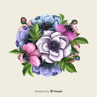 Ilustración de ramo de flores vintage