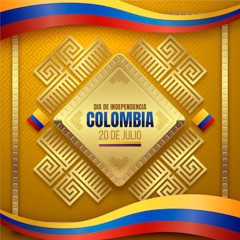 Ilustración realista 20 de julio - independencia de colombia