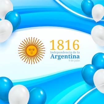 Ilustración realista 9 de julio - declaracion de independencia de la argentina