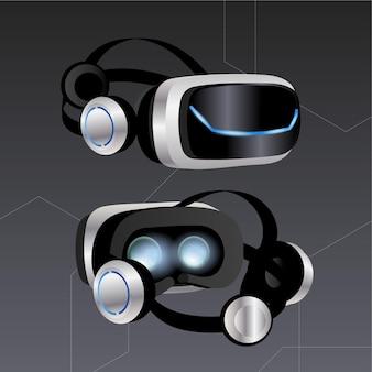 Ilustración realista de auriculares vr