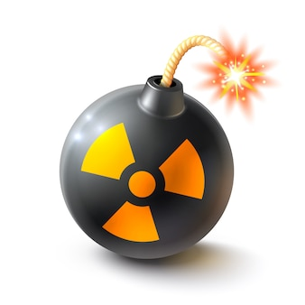 Ilustración realista de la bomba