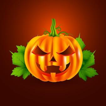 Ilustración realista de calabaza de halloween