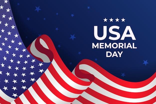 Ilustración realista del día conmemorativo de estados unidos
