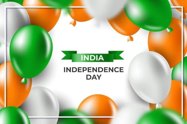 Ilustración realista del día de la independencia de india