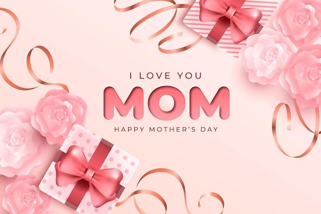Ilustración realista del día de la madre