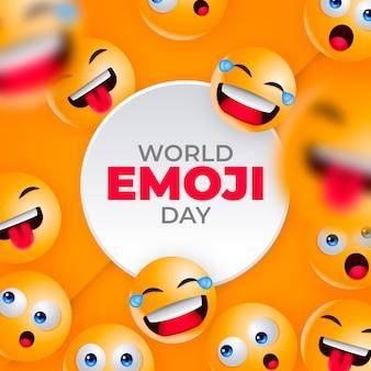 Ilustración realista del día mundial del emoji en 3d