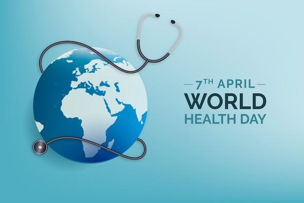 Ilustración realista del día mundial de la salud