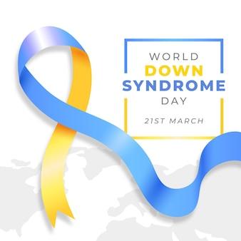 Ilustración realista día mundial del síndrome de down