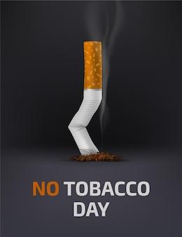 Ilustración realista del día mundial sin tabaco