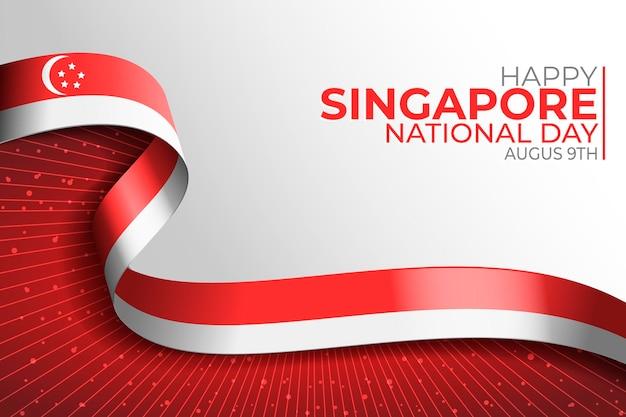 Ilustración realista del día nacional de singapur