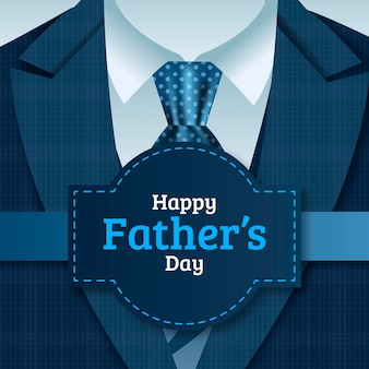 Ilustración realista del día del padre feliz