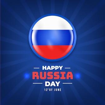 Ilustración realista del día de rusia