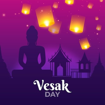 Ilustración realista del día de vesak