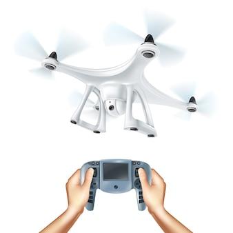Ilustración realista de drones