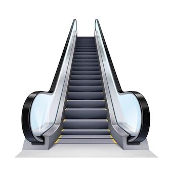 Ilustración realista de la escalera mecánica