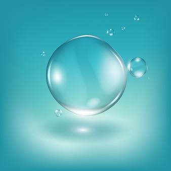 Ilustración realista de gotas de agua.