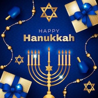 Ilustración realista de hanukkah