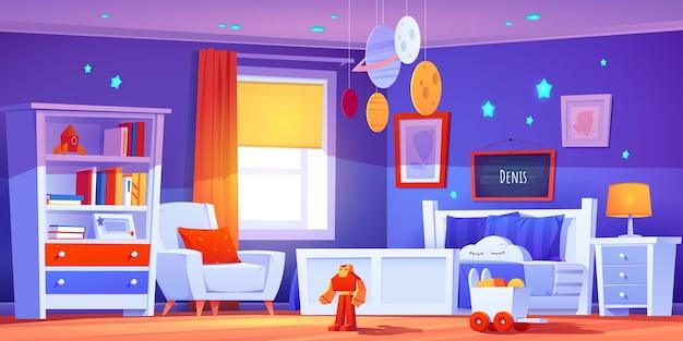 Ilustración realista del interior de la habitación
