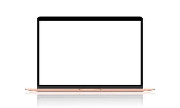 Ilustración realista de laptop