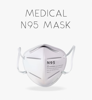 Ilustración realista de la máscara n95