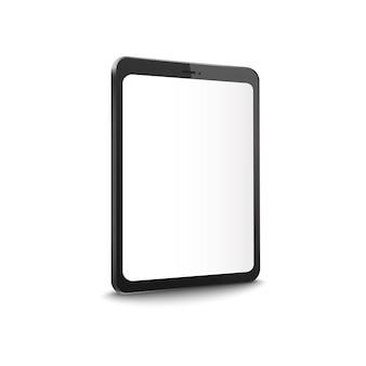 Ilustración realista de la pantalla de la tableta editable en blanco.