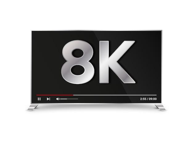 Ilustración realista de tv de plasma.