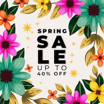 Ilustración de rebajas de primavera en acuarela
