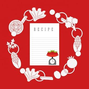 Ilustración de receta de cocina