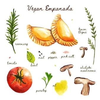 Ilustración de receta de empanada