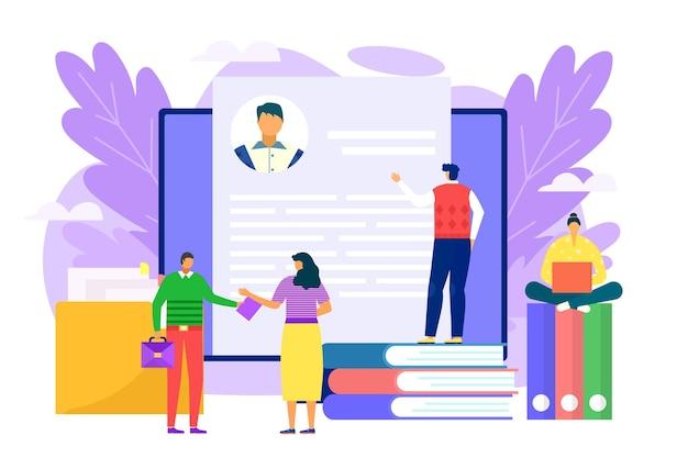 Ilustración de reclutamiento de trabajo