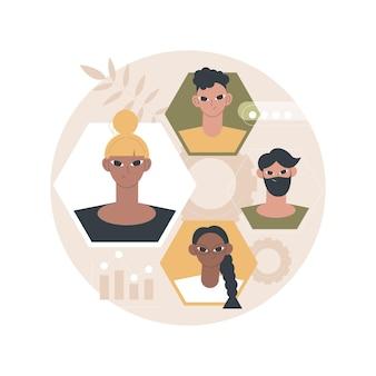 Ilustración de recursos humanos
