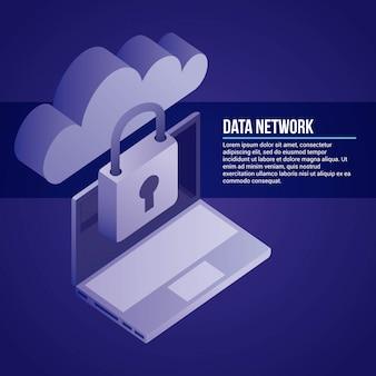 Ilustración de red de datos