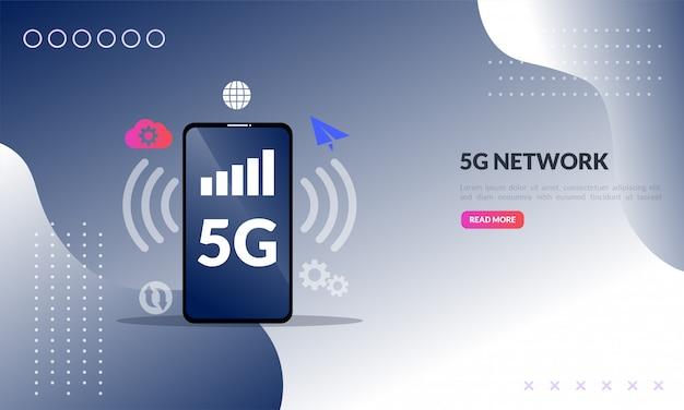 Ilustración de red móvil 5g