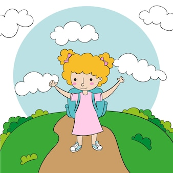 Ilustración de regreso a la escuela