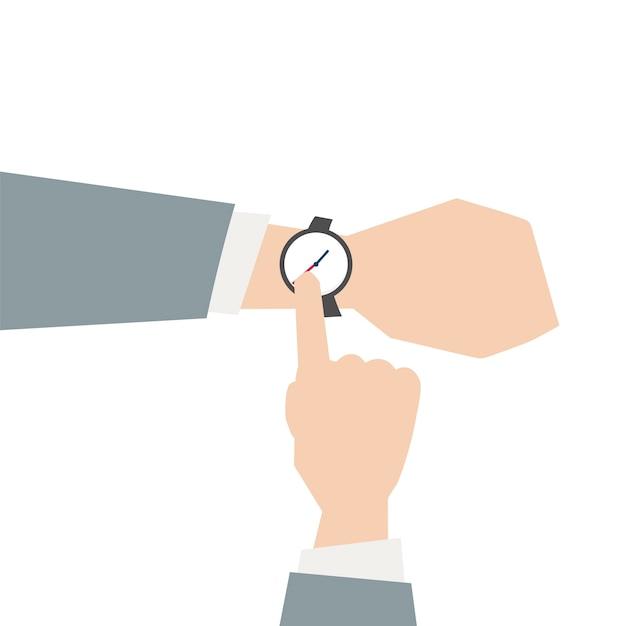 Ilustración de un reloj de pulsera