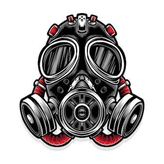 Ilustración de respirador de máscara de gas