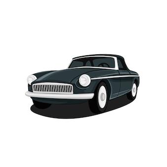 Ilustración retro del coche
