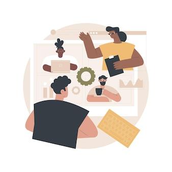 Ilustración de reunión