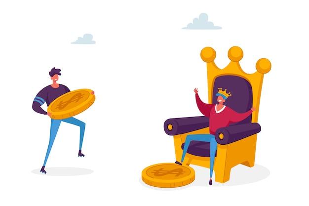 Ilustración de rey publicitario