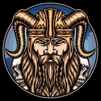 Ilustración del rey vikingo.