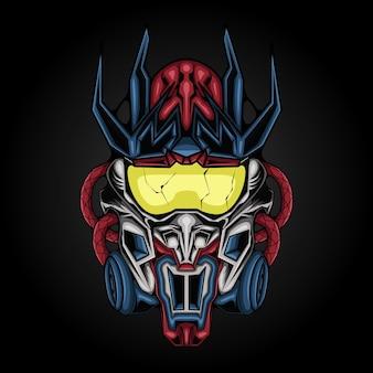 Ilustración del robot cyborg gundam